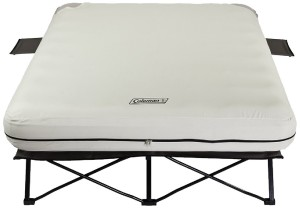 COLEMAN QUEEN SIZED COT AND AIR MATTRESS