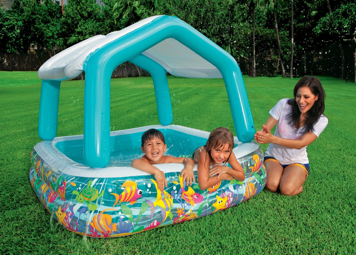 inflatable sun shade pool christmas wishes gifts