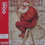 MAPPING HIS COURSE – NORMAN ROCKWELL SANTA CLAUS PUZZLE