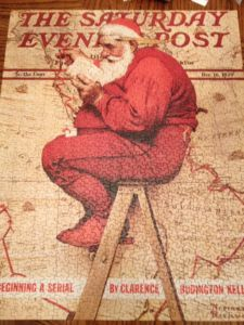 norman-rockwell-mapping-his-course-santa-claus-puzzle-complete