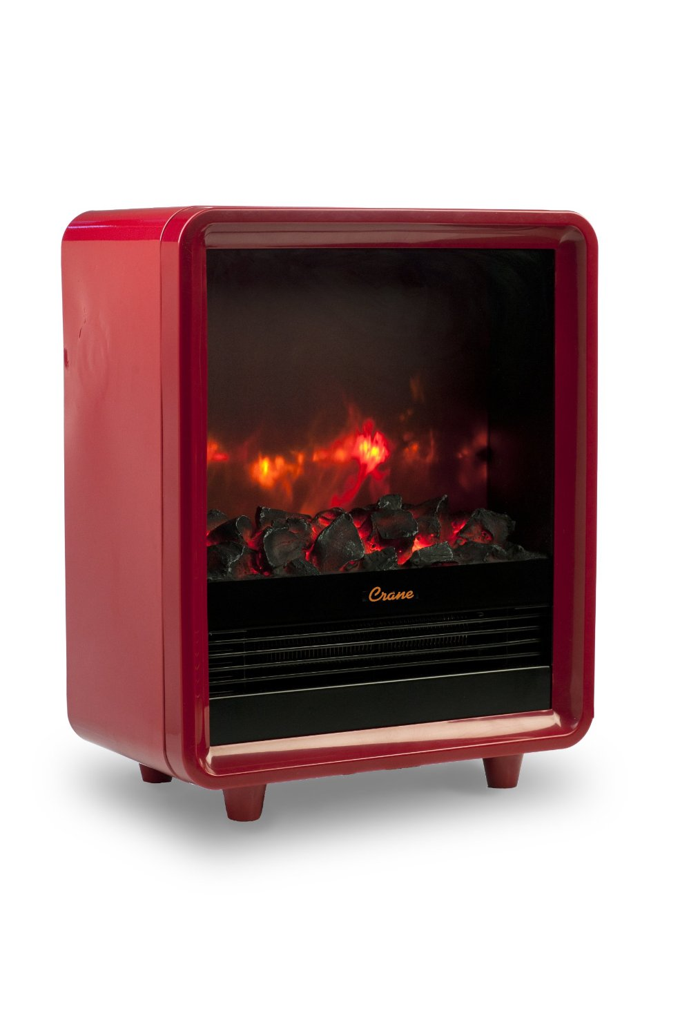 crane safe electric fireplace heater christmas wishes gifts
