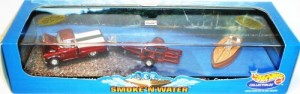 HOT WHEELS TOY TRUCK AND BOAT SET
