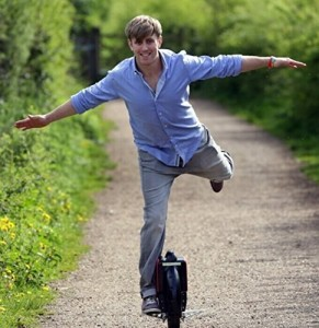 AirWheel One Wheel Electric Unicycle one foot