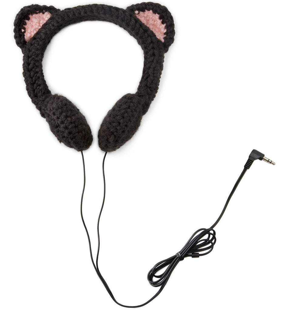 Crocheted Cat Headphones