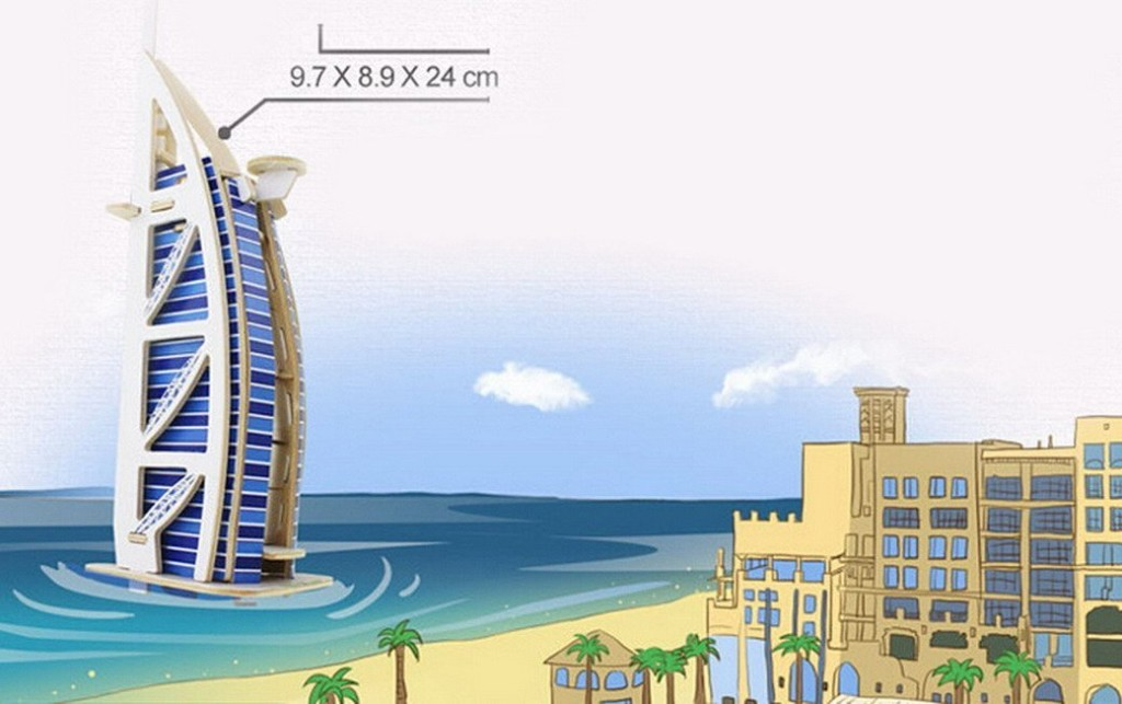Dubai BurjAl-Arab Model dimensions