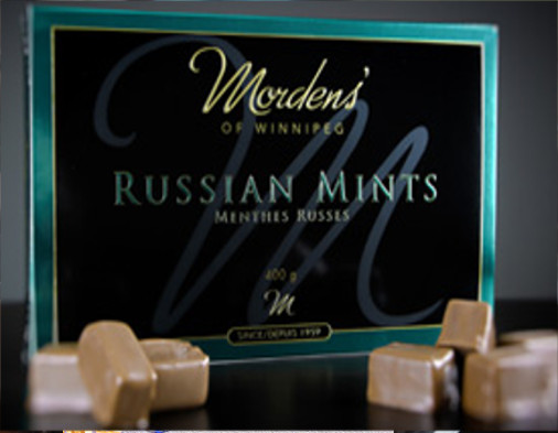 MORDEN'S RUSSIAN MINT CHOCOLATES WINNIPEG