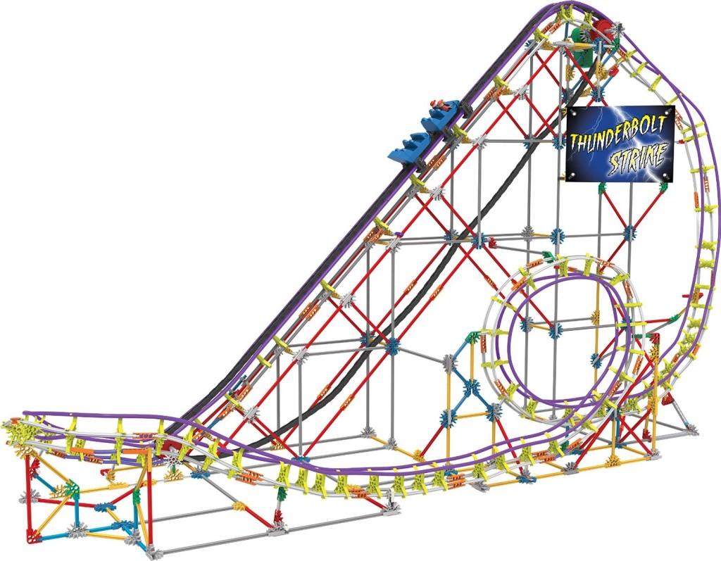 K Nex ThunderBolt Strike RollerCoaster