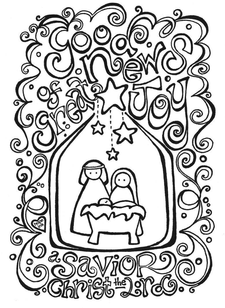 Printable CHRISTMAS COLORING BOOK