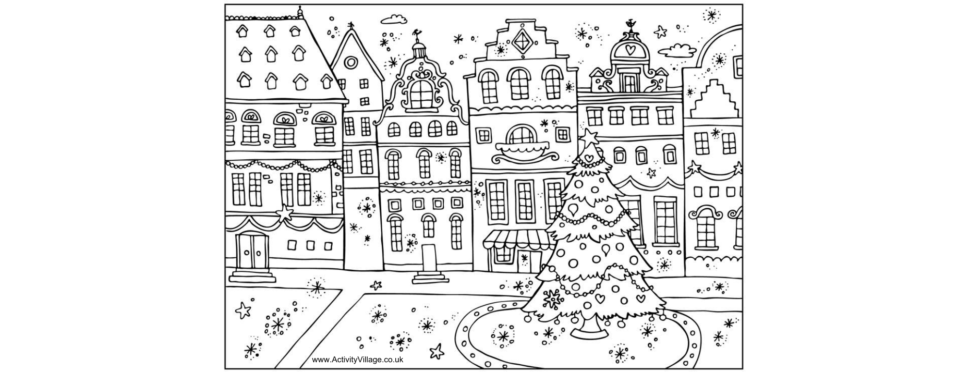 Coloring book pages for christmas - Printable Christmas Coloring Book Pages