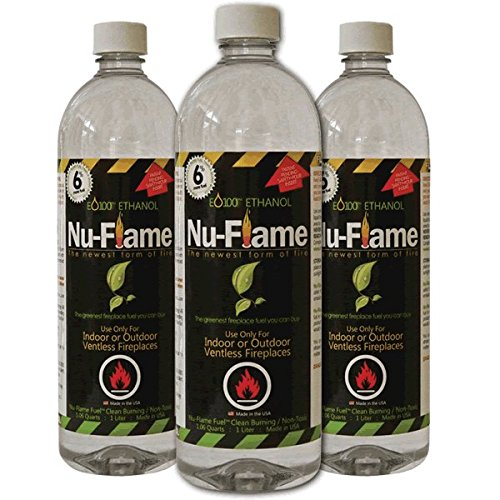 Nu-Flame Ethanol Fireplace Fuel 3 Pack