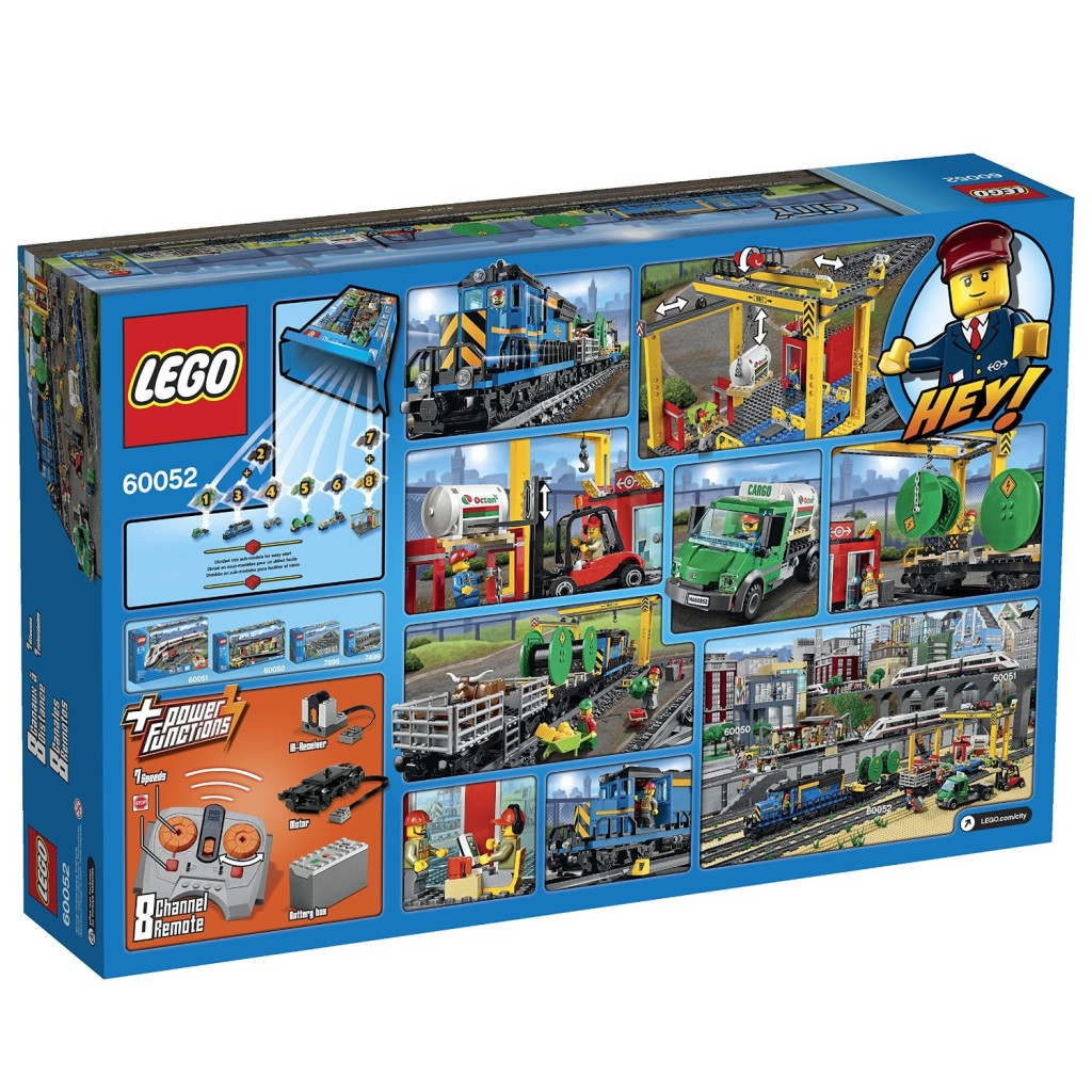 LEGO City Trains Cargo Train 60052 back