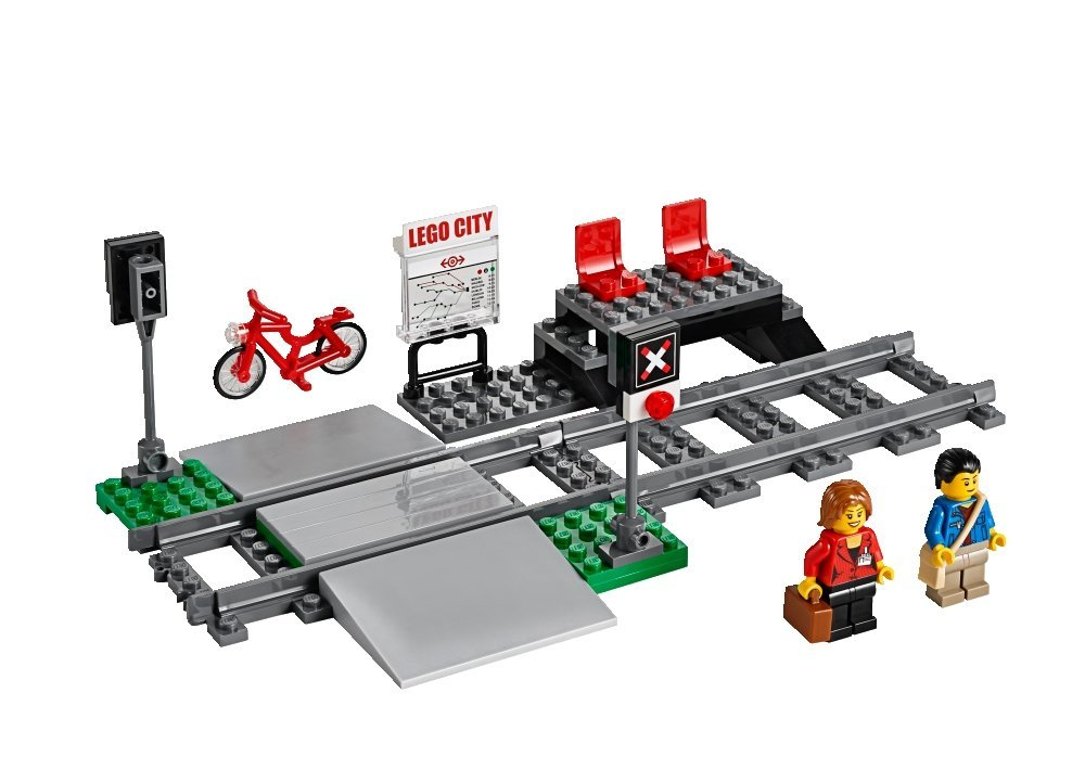 LEGO City Trains High-speed Passenger Train 60051 Building Toy crossing