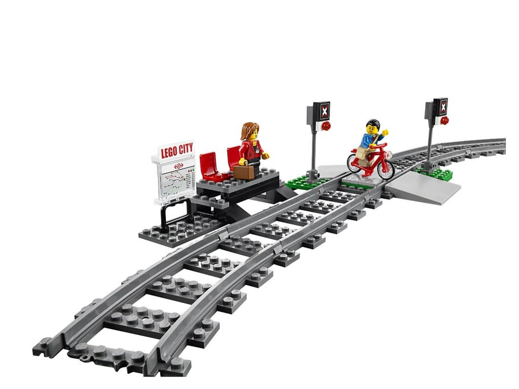 LEGO City Trains High-speed Passenger Train 60051 Building Toy train boarding stop