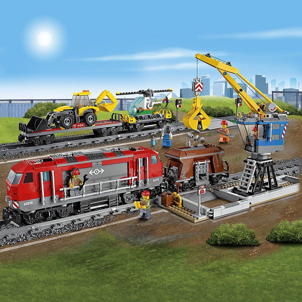 Lego Heavy Haul Train Amp Crane Loader 60098 Christmas