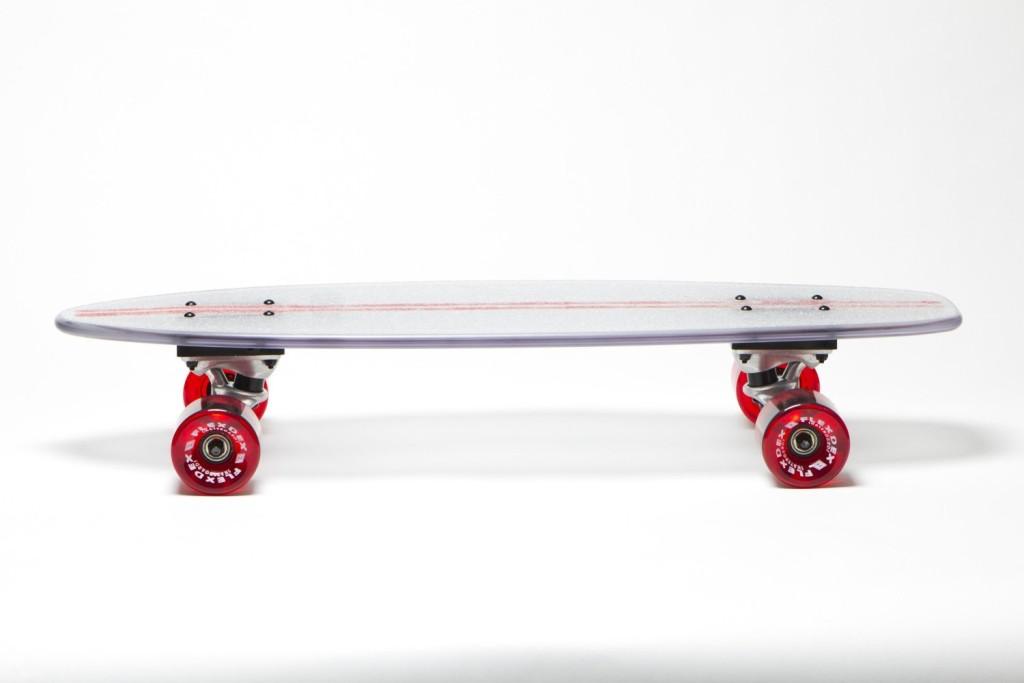 Light UpTransparent Skate Board day side