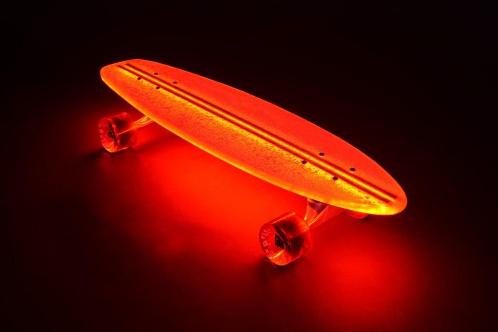 Light UpTransparent Skate Board orange