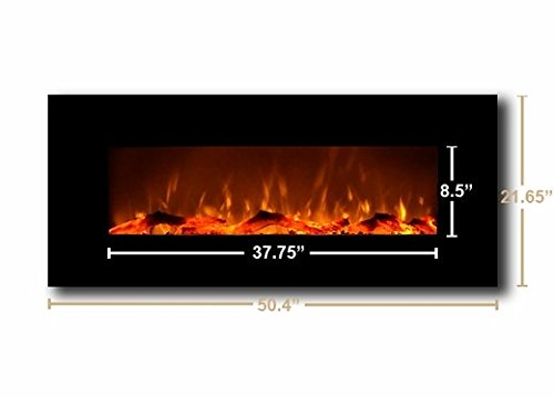 Touchstone Wall Mounted Electric Fireplace Christmas