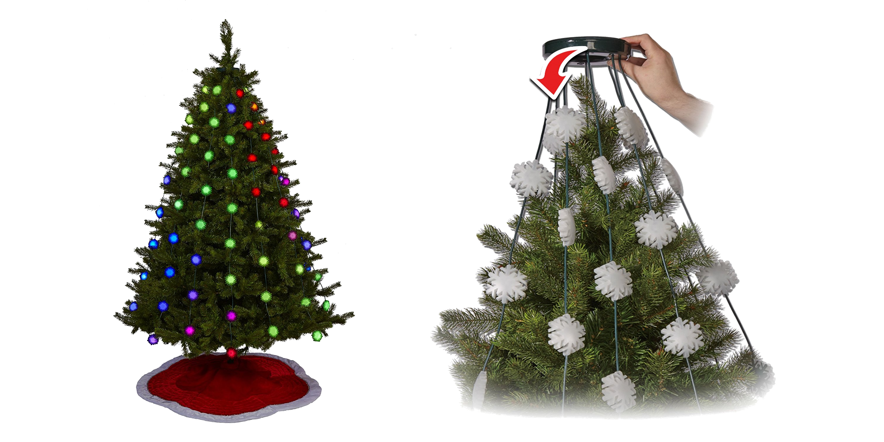 Geek My Tree Glow Flakes Easy To Install Christmas Lights Wishes Gifts